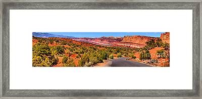 Utah Rainbow Drive Framed Print by Adam Jewell