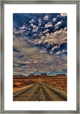 Utah Road Framed Print