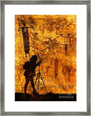 Utah Rock Art Montage Framed Print by Marianne Jensen
