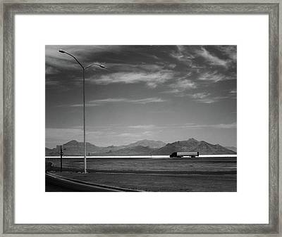 Framed Print featuring the photograph Utah Salt Flats by Art Shimamura
