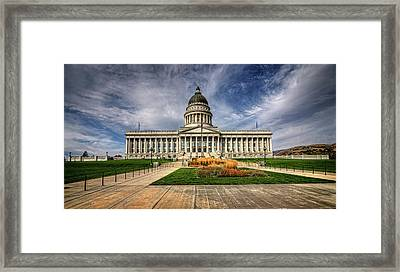 Utah State Capitol Framed Print by James Hammond