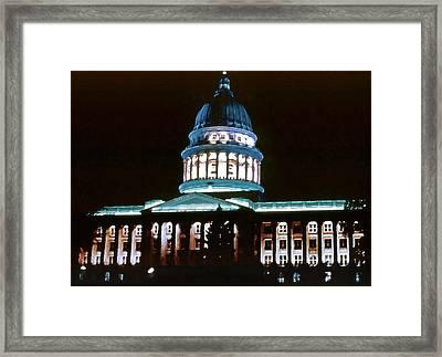 Utah State Capitol Framed Print by Steve Ohlsen