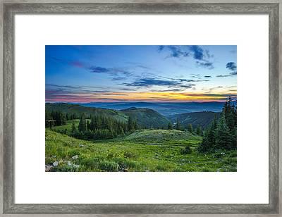 Utah Sunrise Above Park City Framed Print