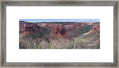 Ute Canyon Framed Print