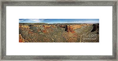 Ute Canyon Panorama Framed Print by Jon Burch Photography
