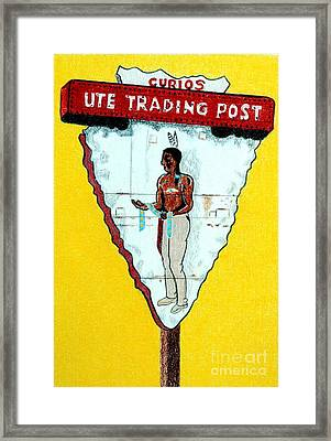 Ute Trading Post Framed Print by Glenda Zuckerman