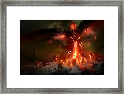 Utherworlds Hellzunas Framed Print by Philip Straub