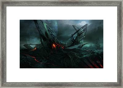 Utherworlds In Search Of Framed Print by Philip Straub