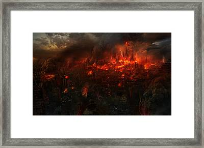Utherworlds Reckoning Day Framed Print by Philip Straub