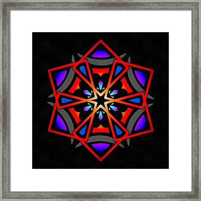 Framed Print featuring the digital art Utron Star by Derek Gedney