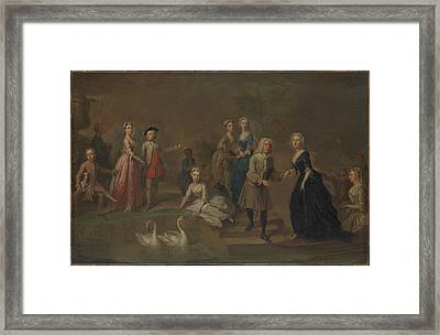 Uvedale Tomkyns Price 16851764 And Members Of His Family Framed Print