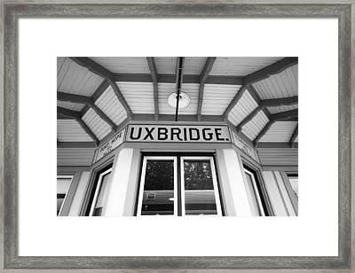 Uxbridge Station Framed Print by Valentino Visentini