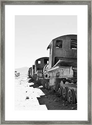 Uyuni Train Cemetery  Framed Print