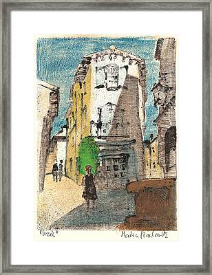 Uzes Provence Framed Print by Martin Stankewitz