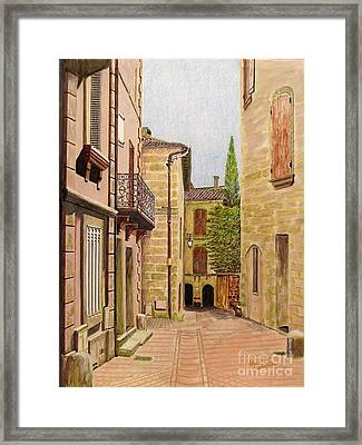 Uzes, South Of France Framed Print by Olga Silverman