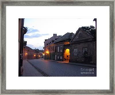 Uzupis Street. Old Vilnius. Lithuania. Framed Print