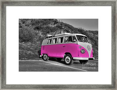 V-dub In Pink  Framed Print by Rob Hawkins