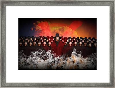 V For Vendetta Photographic Image Framed Print by Randall Nyhof
