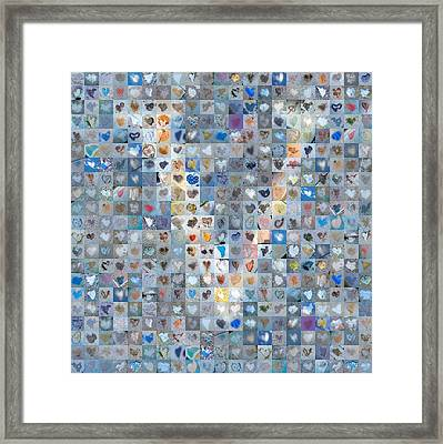 V In Cloud Framed Print by Boy Sees Hearts