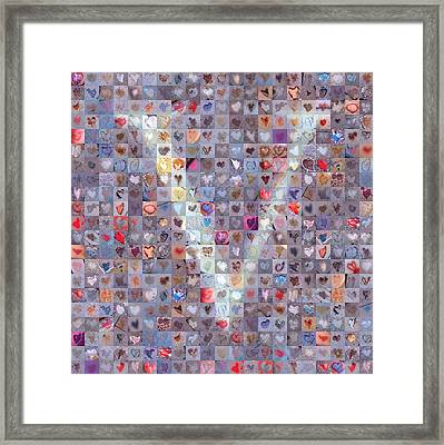 V In Confetti Framed Print by Boy Sees Hearts