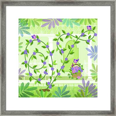 V Is For Vine And Veranda Framed Print by Valerie Drake Lesiak