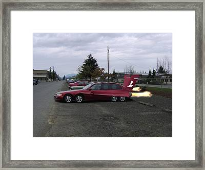 V  Jet Framed Print by Ken Day