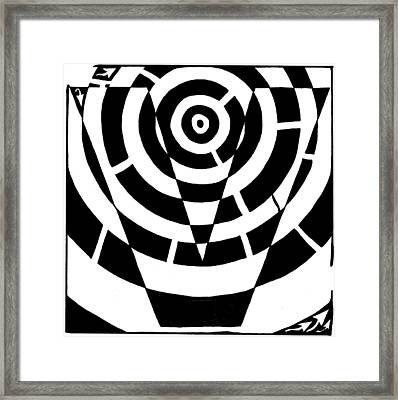 V Maze Framed Print by Yonatan Frimer Maze Artist
