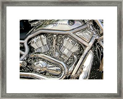 V-rod Titanium Framed Print