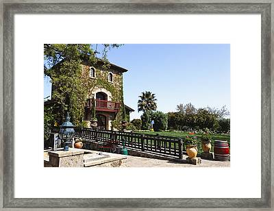V Sattui Winery Building Napa Valley California Framed Print