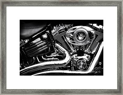 V Twin Framed Print by Tim Gainey