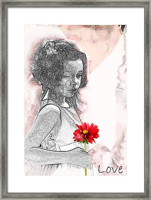 V2- I Thought Of You Framed Print by Barbara  White