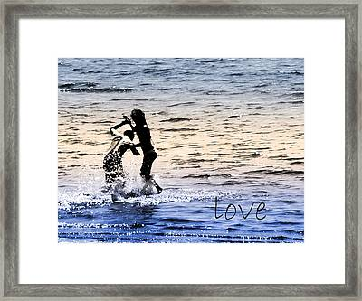 V3-come Out And Play Framed Print by Barbara  White