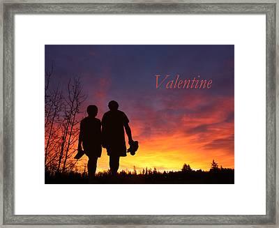 V4-into The Sunset Framed Print