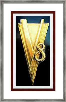 V8 Engine Hardware Vintage 1937 Framed Print by Shirley Anderson