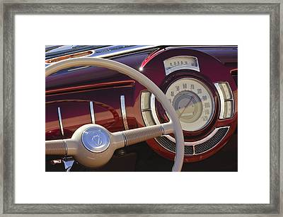 V8 Hot Rod Dash Framed Print by Jill Reger