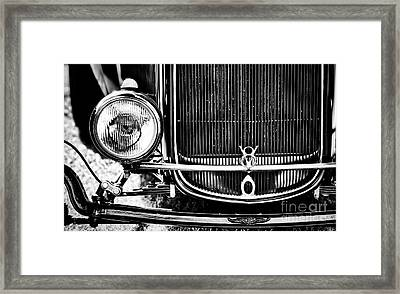 V8 Monochrome Framed Print by Tim Gainey