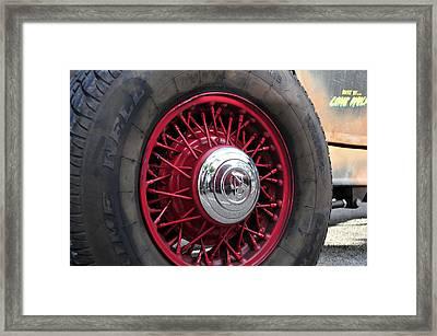 V8 Wheels Framed Print by David Lee Thompson