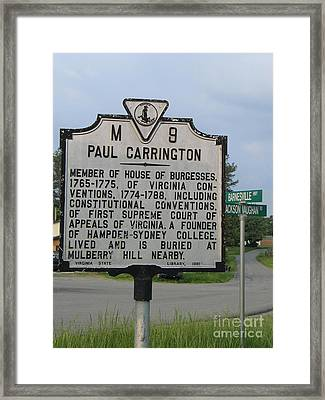 Va-m9 Paul Carrington Framed Print by Jason O Watson