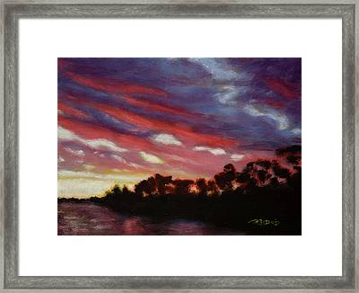 Vaal River Sunset Framed Print