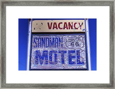 Vacancy Sign Framed Print