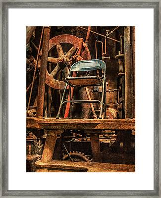 Vacant Control Station  Framed Print by Phillip Burrow