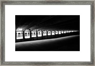 Vacant Parking Garage Framed Print by Ahmed Hashim