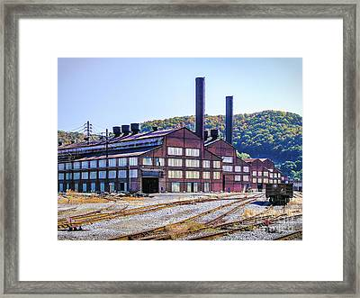 Vacant Steel Mill - Johnstown Pa Framed Print