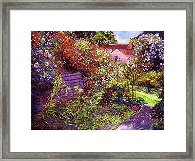 Vacation Garden Framed Print by David Lloyd Glover