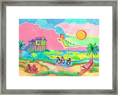 Vacation In The Sun Framed Print