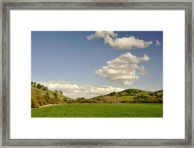 Vacaville Farmland Framed Print by Josephine Buschman