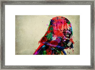 Vader In Color And Thought Framed Print by Mitch Boyce