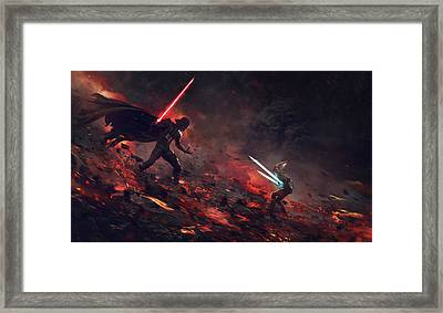 Vader Vs Ahsoka Framed Print by Guillem H Pongiluppi