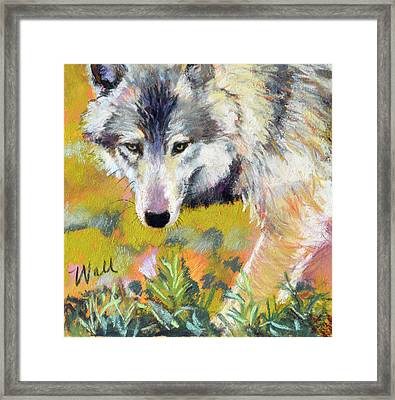 Framed Print featuring the pastel Vagabond by Pattie Wall