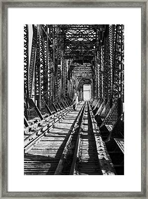 Vagrant On Bridge Framed Print by Don Wolf